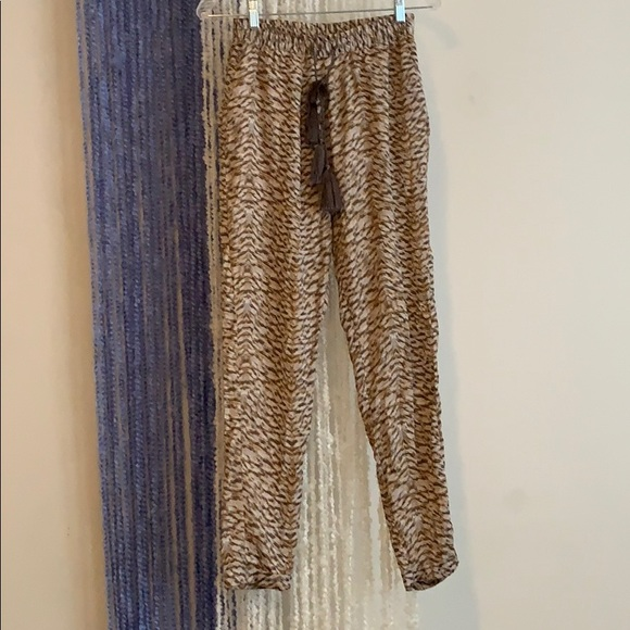 H&M Pants - Satin trousers with cinched bottom